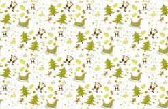 Christmas pattern seamless on white background vectors illustrator. Christmas pattern green seamless on white background vectors illustrator. christmas pattern royalty free stock image