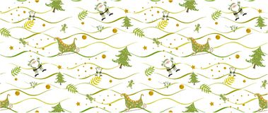 Christmas pattern seamless on white background vectors illustrator. Christmas pattern green seamless on white background vectors illustrator. christmas pattern stock photos