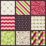 Christmas pattern set Stock Image