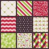 Christmas pattern set Stock Image