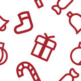 Christmas pattern. Set of Christmas symbols. It can be used as a seamless texture Royalty Free Stock Image