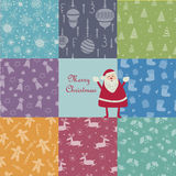 Christmas pattern set Royalty Free Stock Images