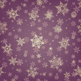 Christmas pattern snowflake background. EPS 10 Stock Images