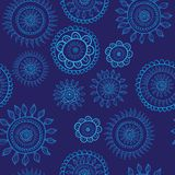Christmas pattern snowflake background Royalty Free Stock Image