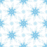 Christmas pattern. Snowflake seamless background. New year decoration, wrap. Stock Images