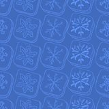 Christmas pattern with snowflake sketch Stock Images