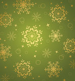 Christmas pattern with snowflakes Stock Image