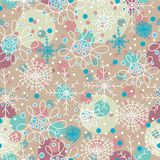 Christmas pattern with snowflakes Stock Photo