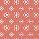 Christmas pattern with snowflakes. Stock Images