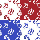 Christmas pattern. Christmas symbols It can be used as a seamless texture or background Royalty Free Stock Image