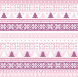 Christmas pattern with traditional motifs Royalty Free Stock Photo