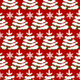 Christmas pattern with trees Stock Images