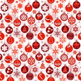 Christmas pattern with vintage balls. Stock Images