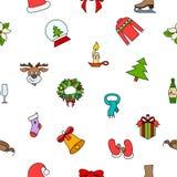 Christmas pattern on white Royalty Free Stock Image