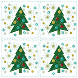 Christmas Patterned Background Stock Photography