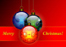 Christmas patterned balls Royalty Free Stock Photo