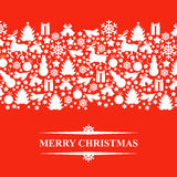 Christmas patterned card Royalty Free Stock Photography