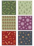 Christmas patterns Royalty Free Stock Photo