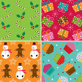 Christmas patterns Royalty Free Stock Photos