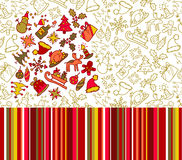 Christmas patterns Royalty Free Stock Photography