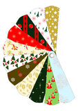 Christmas patterns chart Royalty Free Stock Image
