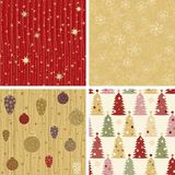 Christmas Patterns Collection 2 Royalty Free Stock Images