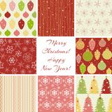 Christmas Patterns Collection Stock Photography