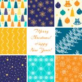 Christmas patterns collection Stock Photo