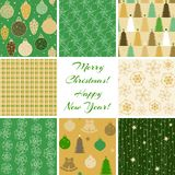 Christmas patterns collection 4 Stock Image