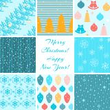 Christmas patterns collection Royalty Free Stock Photos