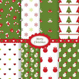 Christmas patterns Royalty Free Stock Image