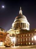 christmas paul s st tree Στοκ εικόνα με δικαίωμα ελεύθερης χρήσης