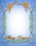 Christmas Peace Angels 3D Graphic Royalty Free Stock Photo