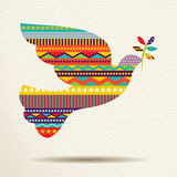 Christmas peace dove art design in fun colors Royalty Free Stock Images