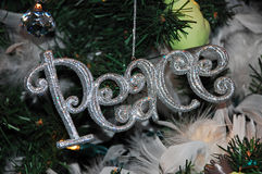 Christmas peace ornament Royalty Free Stock Photography