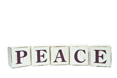 Christmas Peace written on wooden blocks Royalty Free Stock Photography
