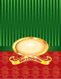 Christmas Pearl with Pinstripe and Damask. A Christmas pearl frame with pinstripe and knotted damask background Royalty Free Stock Photography