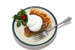 Christmas Pecan Pie Slice Stock Photography