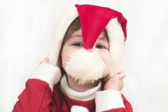 Christmas Peekaboo 1 stock photography