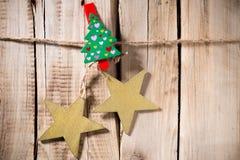 Christmas peg. Royalty Free Stock Photo