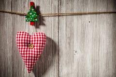Christmas peg. Stock Photos