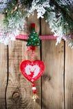Christmas peg. Royalty Free Stock Photos