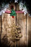 Christmas peg. Royalty Free Stock Image
