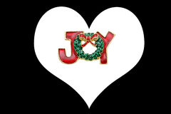 Christmas pendant and heart Royalty Free Stock Image
