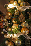 Christmas pendants gold Royalty Free Stock Photography