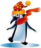 Christmas Penguin #1. A clipping path is included in the JPG document, for easy and presise clipping and isolation of the subject matter royalty free illustration