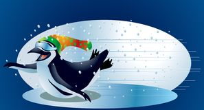 Christmas Penguin #2. A clipping path is included in the JPG document, for easy and presise clipping and isolation of the subject matter vector illustration
