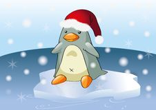 Christmas penguin Royalty Free Stock Image