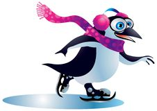 Christmas Penguin #3. A clipping path is included in the JPG document, for easy and presise clipping and isolation of the subject matter stock illustration