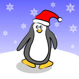 Christmas Penguin Stock Image
